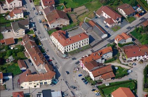 Mairie vue aérienne